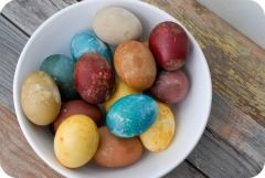 easter eggs dyed