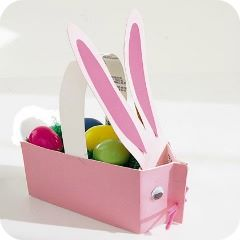 easter milk carton bunny basket
