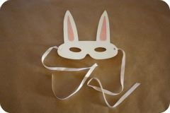 rabbit mask easter