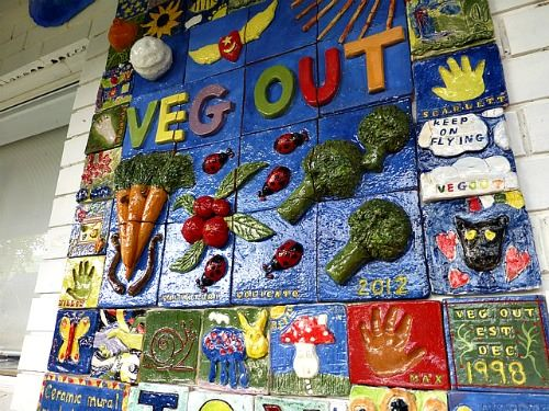 veg out community gardens mural